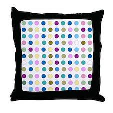 Colorful Polka Dots Throw Pillow