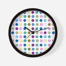 Colorful Polka Dots Wall Clock