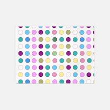 Colorful Polka Dots 5'x7'Area Rug