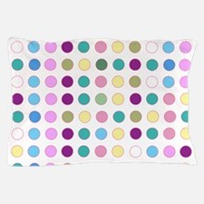 Colorful Polka Dots Pillow Case