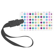 Colorful Polka Dots Luggage Tag