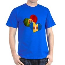 Portugal and Madeira hearts T-Shirt