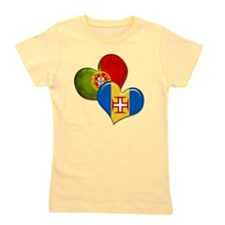 Portugal and Madeira hearts Girl's Tee
