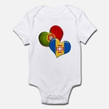 Portugal and Madeira hearts Infant Bodysuit