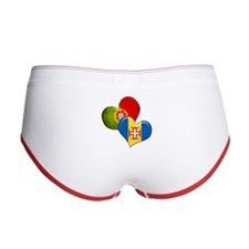 Portugal and Madeira hearts Women's Boy Brief