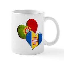 Portugal and Madeira hearts Mug