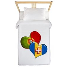 Portugal and Madeira hearts Twin Duvet