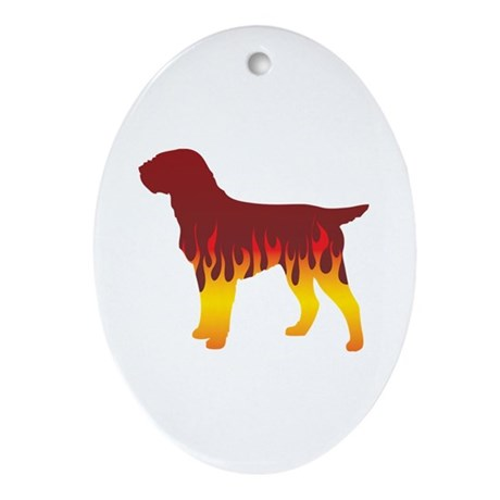 Griffon Flames Oval Ornament