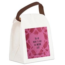 Awesome Life Canvas Lunch Bag
