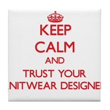 Keep Calm and trust your Knitwear Designer Tile Co