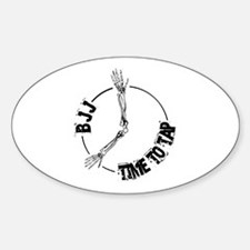 BJJ - Time to tap Oval Decal