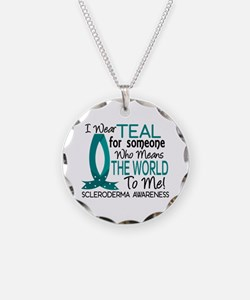 Scleroderma MeansWorldToMe1 Necklace Circle Charm