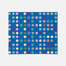 Polka Dots on Turquoise Throw Blanket