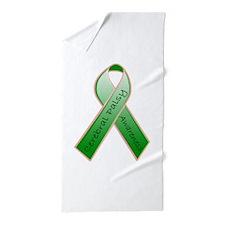 CP Awareness Ribbon.JPG Beach Towel
