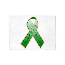 CP Awareness Ribbon.JPG 5'x7'Area Rug