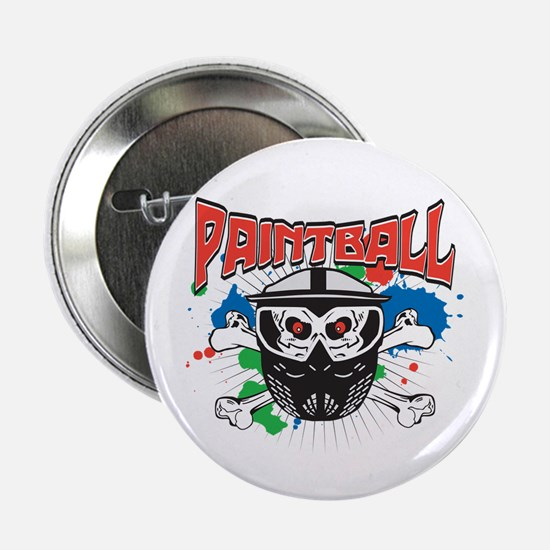 "Paintball Skull and Cross Bones 2.25"" Button"
