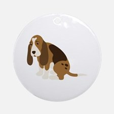 Bassett Hound Round Ornament