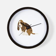 Bassett Hound Wall Clock