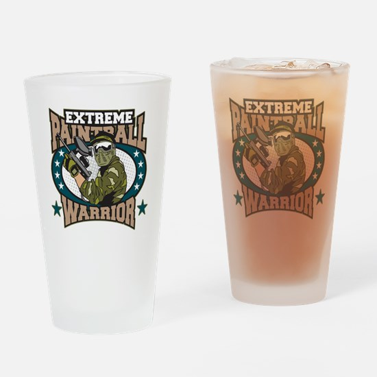 Extreme Paintball Warrior Drinking Glass