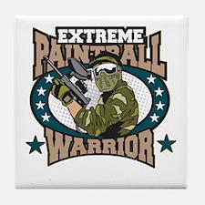 Extreme Paintball Warrior Tile Coaster