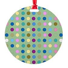 Polka Dots on Mint Ornament