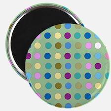 Polka Dots on Mint Magnets