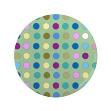 "Polka Dots on Mint 3.5"" Button"
