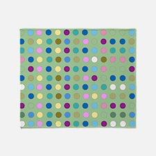 Polka Dots on Mint Throw Blanket