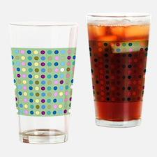 Polka Dots on Mint Drinking Glass