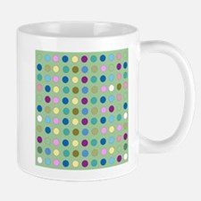 Polka Dots on Mint Mugs