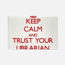 Keep Calm and trust your Librarian Magnets