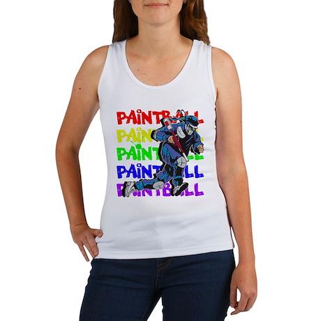 Paintball Player Women's Tank Top