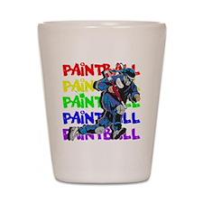 Paintball Player Shot Glass