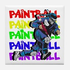 Paintball Player Tile Coaster