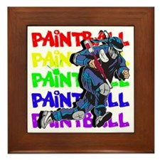 Paintball Player Framed Tile
