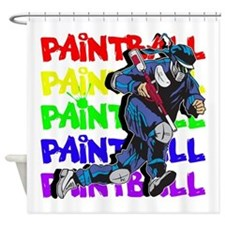 Paintball Player Shower Curtain