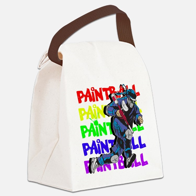 Paintball Player Canvas Lunch Bag