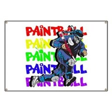 Paintball Player Banner