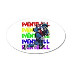 Paintball Player Wall Decal