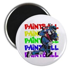Paintball Player Magnet