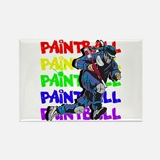 Paintball Player Rectangle Magnet