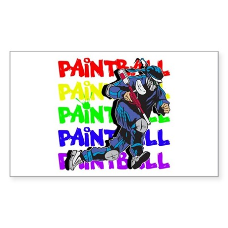 Paintball Player Sticker (Rectangle)