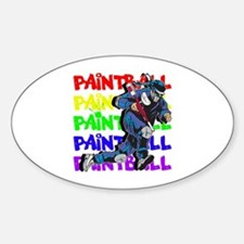 Paintball Player Sticker (Oval)
