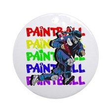 Paintball Player Ornament (Round)