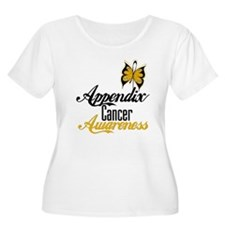 Appendix Cancer Awareness Butterfly Plus Size T-Sh