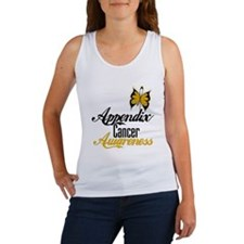Appendix Cancer Awareness Butterfly Tank Top