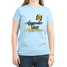 Appendix Cancer Awareness Butterfly T-Shirt