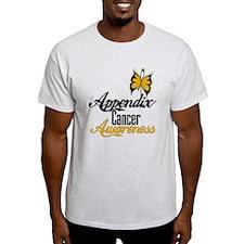 Appendix Cancer Awareness Butterfly T-Shirt