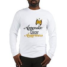 Appendix Cancer Awareness Butterfly Long Sleeve T-