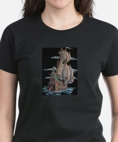 Galleon On Velvet T-Shirt